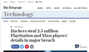 Hackers steal data headline